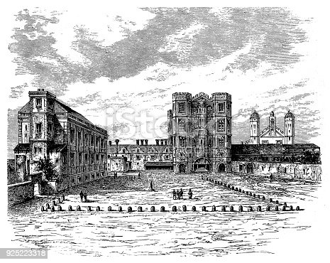 Illustration of a Hampton Court Palace