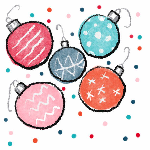 Han drawn holiday ornament design Hand drawn hoilday ornament design kathrynsk stock illustrations