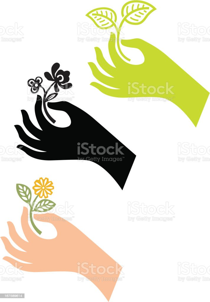 Hand and branch royalty-free hand and branch stock vector art & more images of branch - plant part