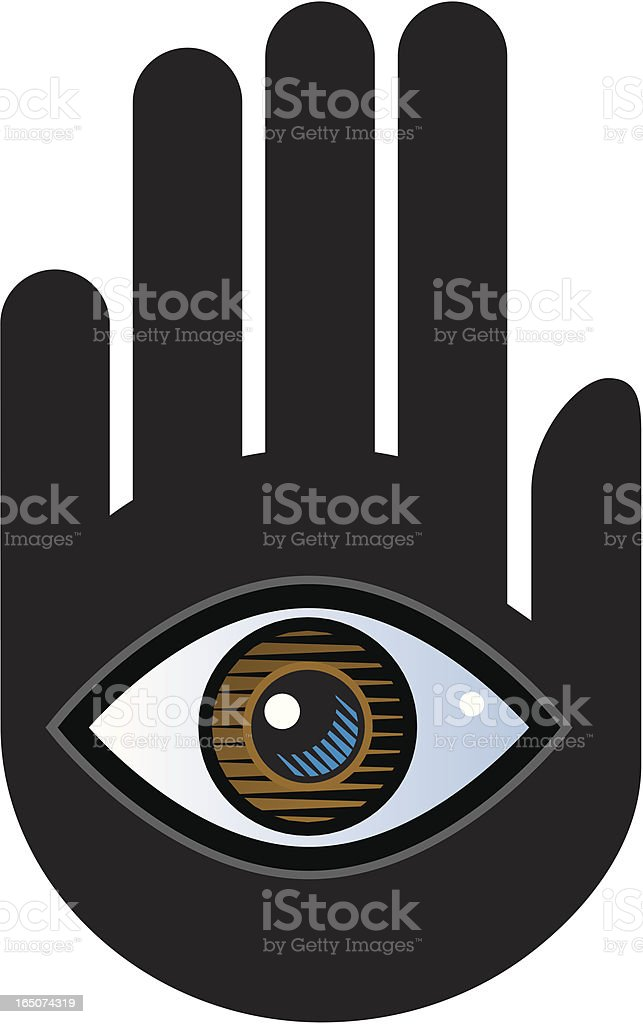 Hand and eye royalty-free stock vector art