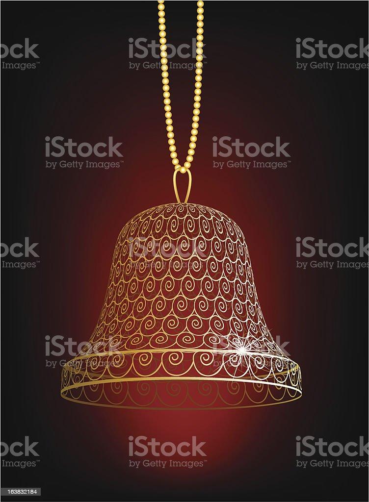 Hand bell royalty-free stock vector art