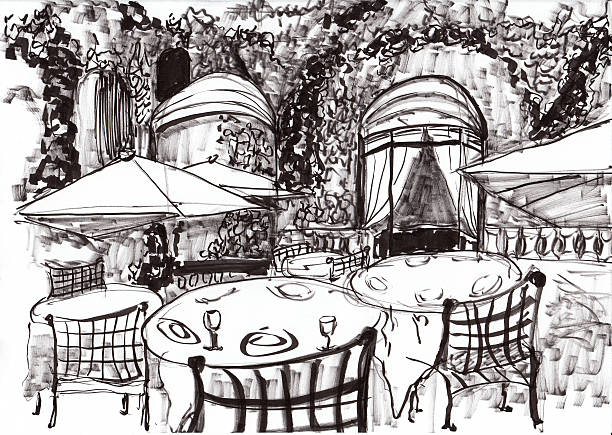 Royalty Free Outdoor Dining Clip Art Vector Images