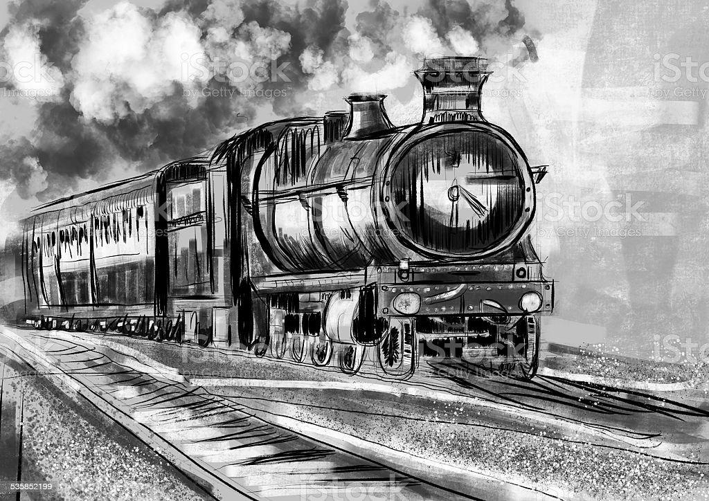 Hand Zeichnen Zug Stock Vektor Art Und Mehr Bilder Von 2015