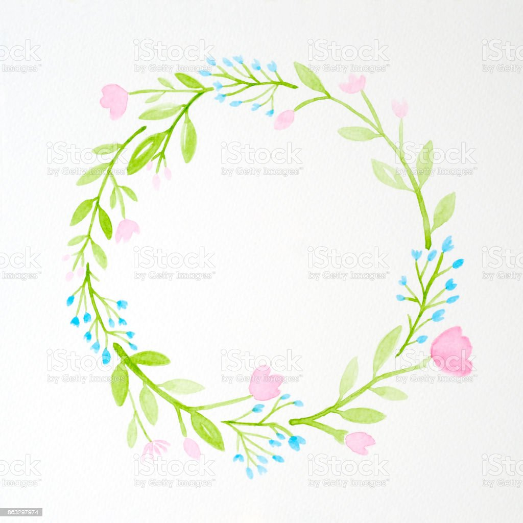 Vetores De De Flores Desenho Em Estilo Aquarela Sobre Papel Branco