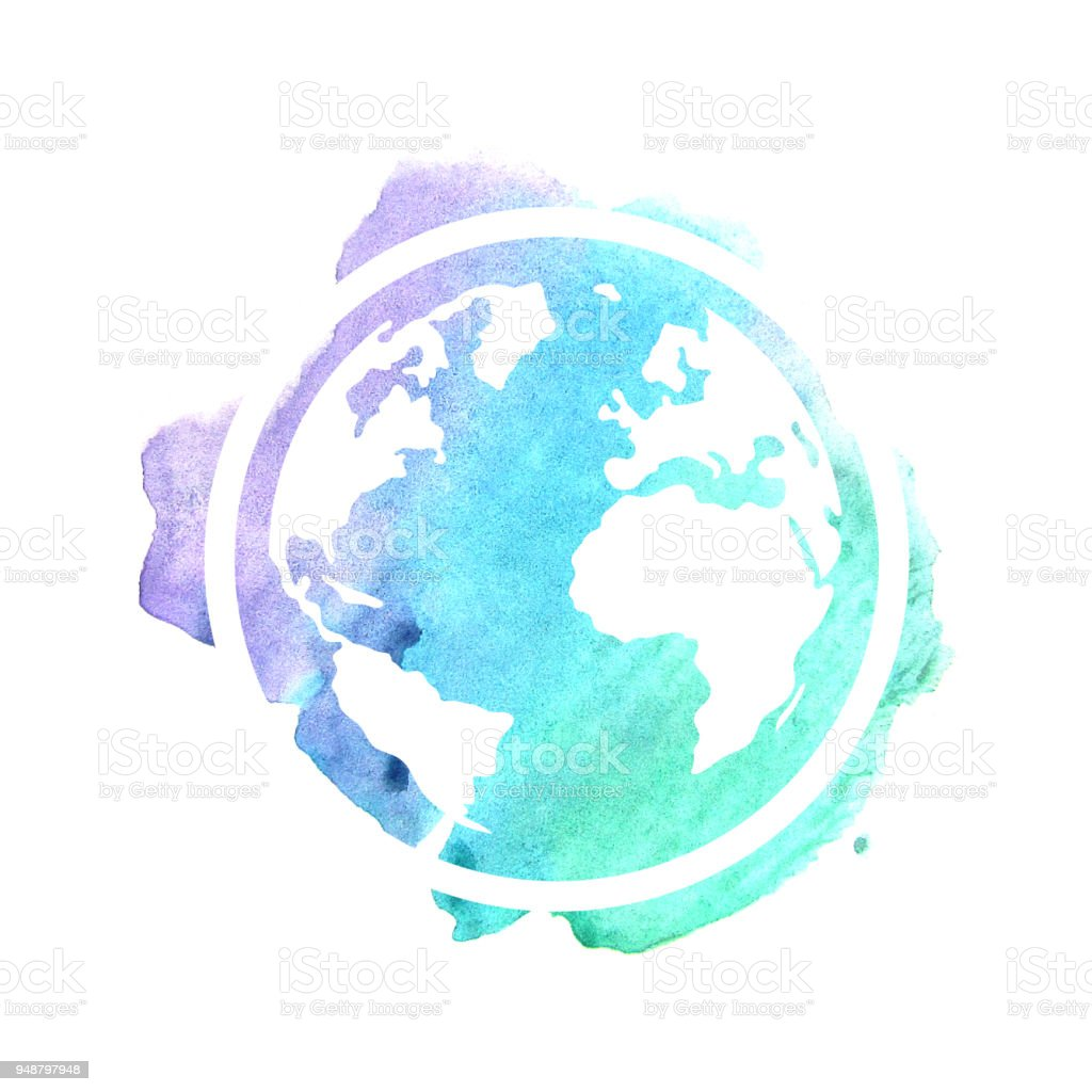 Hand drawing planet Earth vector art illustration