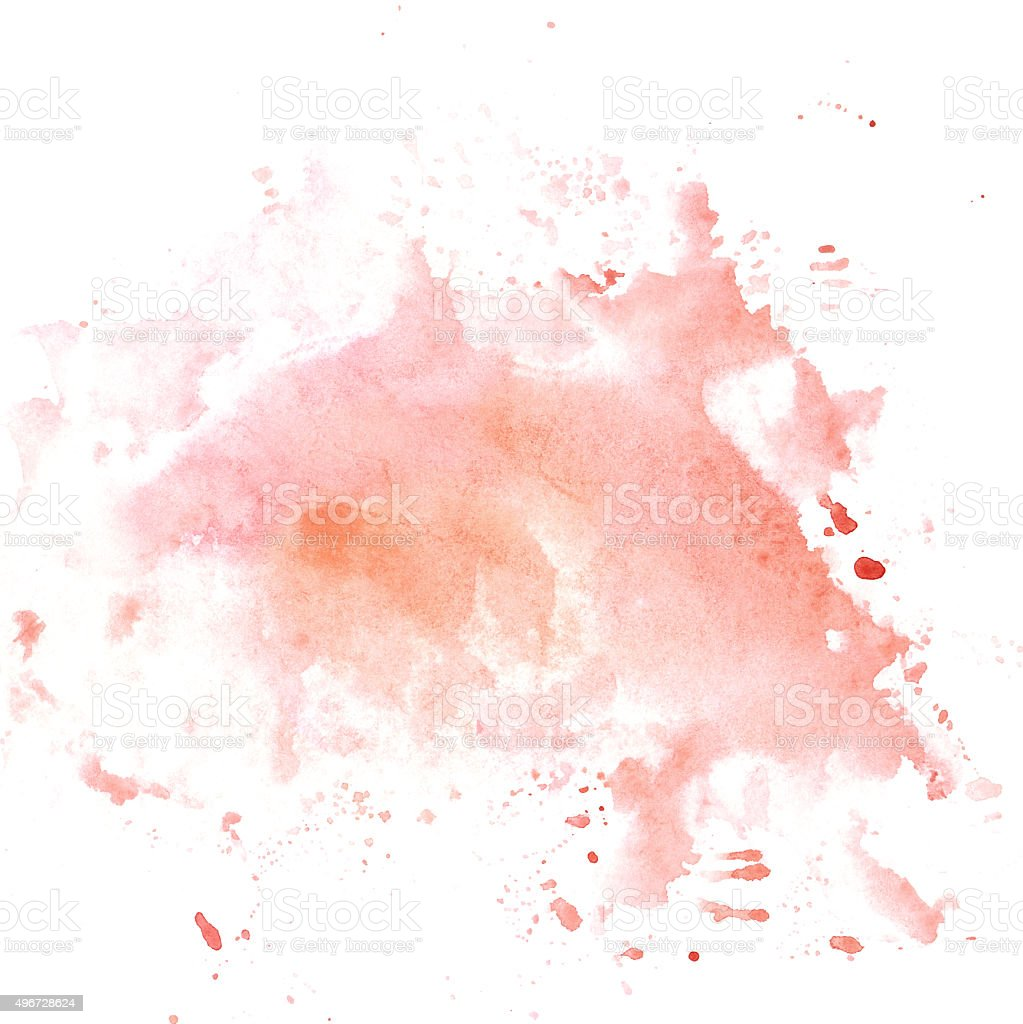 Hand drawm watercolor wash in pastel pink colores vector art illustration