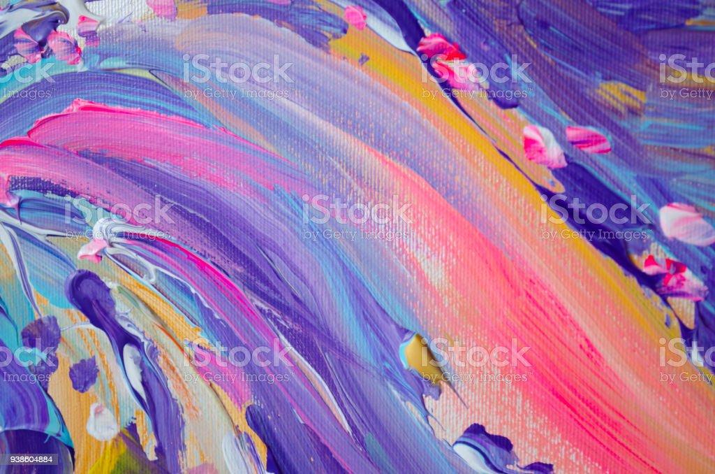 Handgemalte Acrylmalerei Abstrakte Kunst Hintergrund Acrylmalerei ...