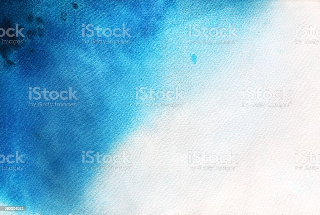 Hand drawn blue watercolor background. vector art illustration