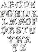 istock Hand drawn capitals 176109883