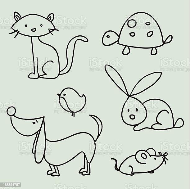 Hand drawn cartoon pets illustration id163854757?b=1&k=6&m=163854757&s=612x612&h=cykksmd1snmpnkyzbekpcvumyoawknxv0wcdfhdpapw=