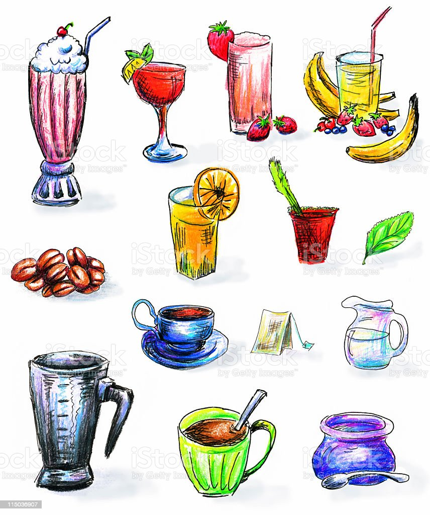 hand drawn drinks clipart stock vector art more images of alcohol rh istockphoto com drinking clipart drink clip art pictures