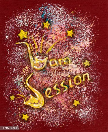 istock Hand Drawn Illustration with Jam Session Text 178730991