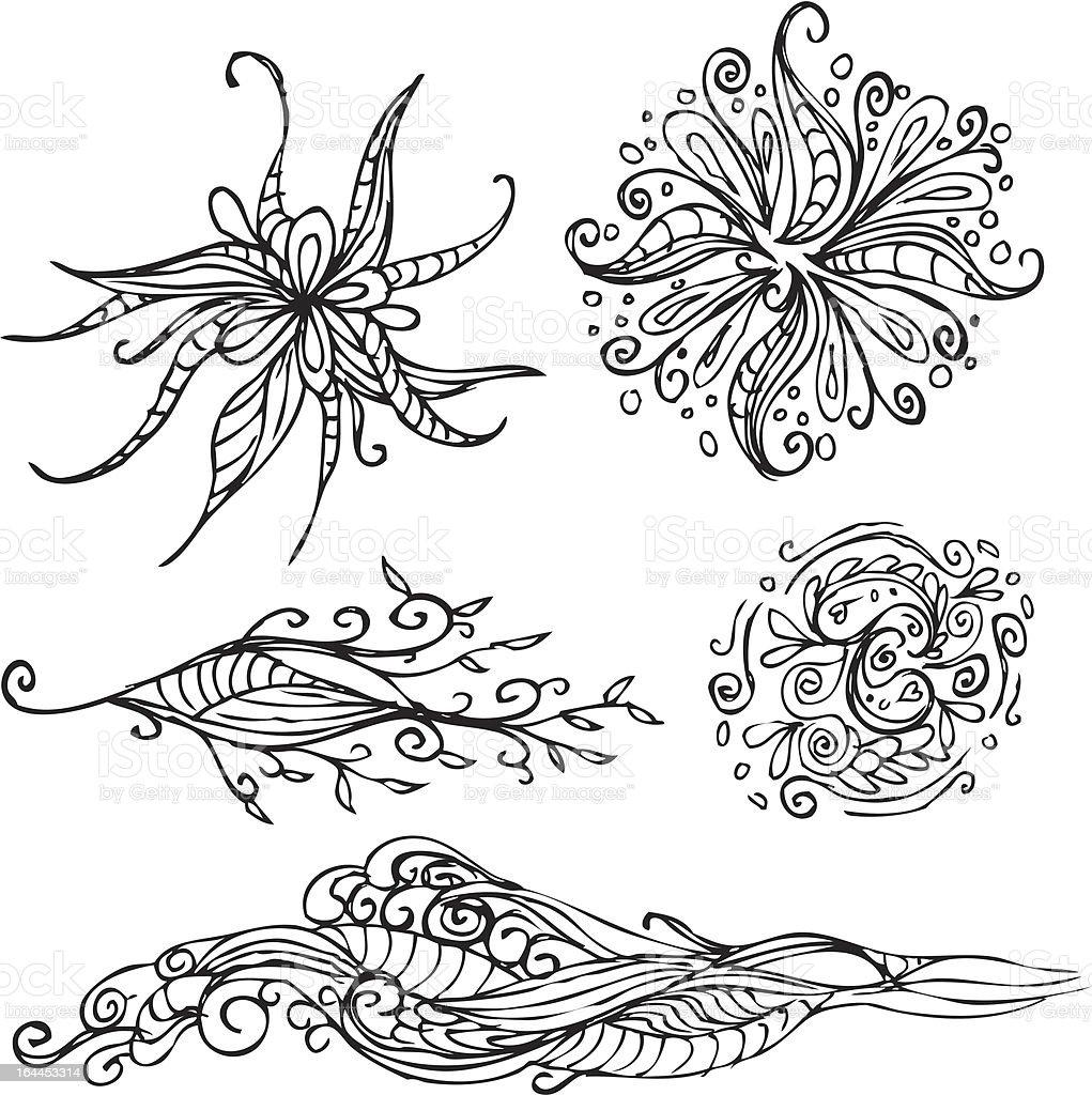 Ilustración de Dibujados A Mano Intrincada Tatuajes y más banco de ...