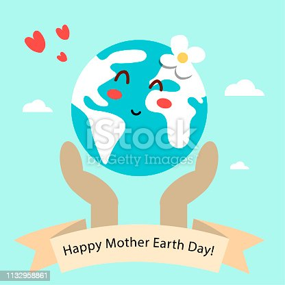 istock Hand drawn mother earth day 1132958861