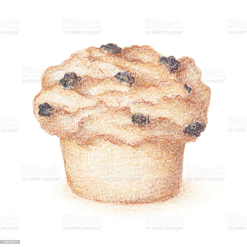 Hand drawn muffin royalty-free hand drawn muffin stock vector art & more images of bakery
