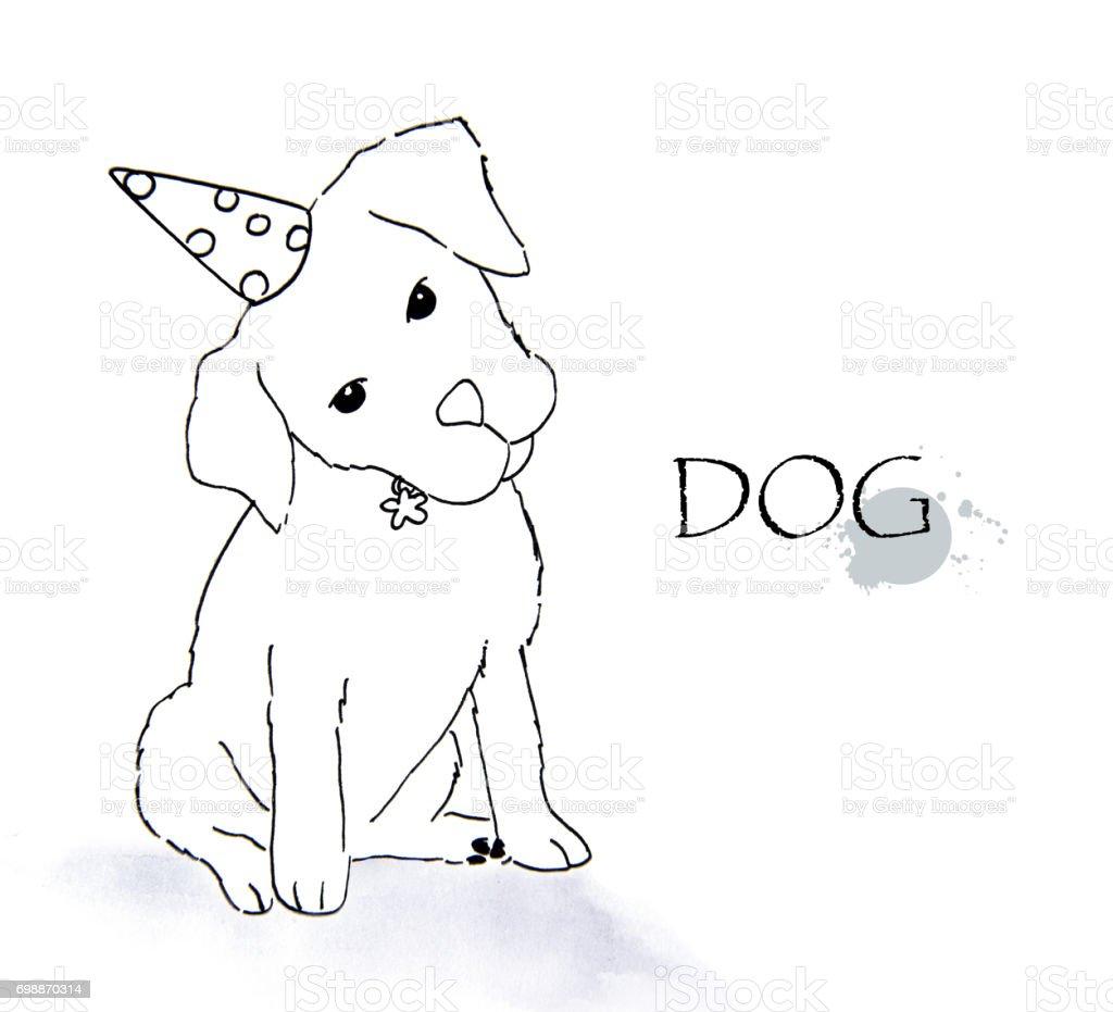 Handdrawn Hund Skizze Stock Vektor Art und mehr Bilder von Auge ...