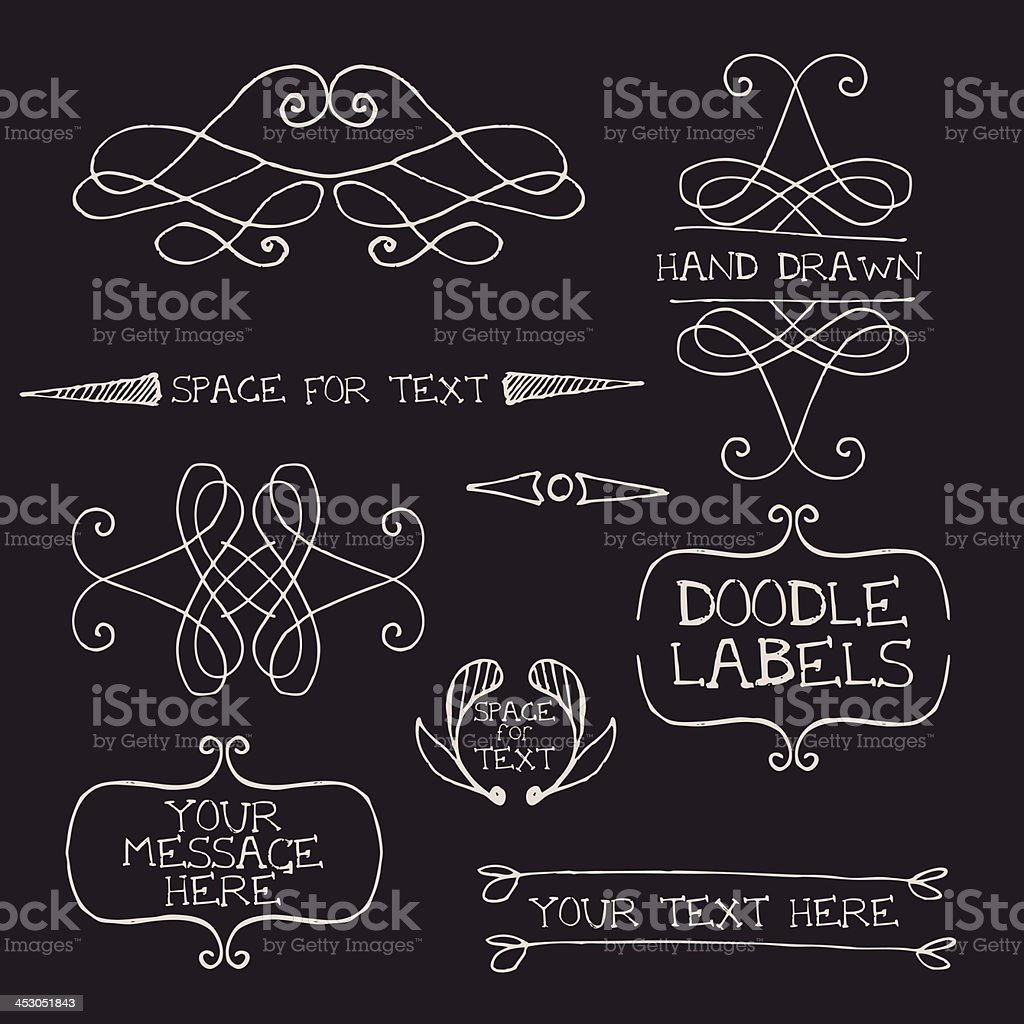 Hand drawn ornate design elements royalty-free stock vector art
