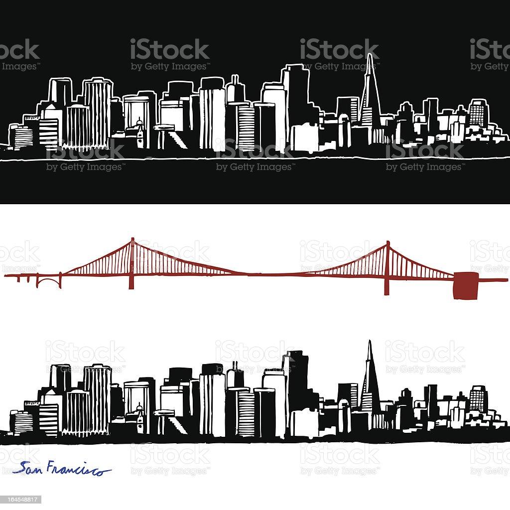 Hand Drawn San Francisco royalty-free stock vector art