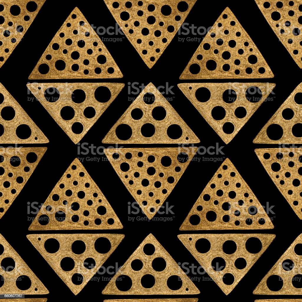 Hand drawn seamless pattern. Gold ethnic ornament, abstract geometric background. royalty-free hand drawn seamless pattern gold ethnic ornament abstract geometric background stock vector art & more images of abstract