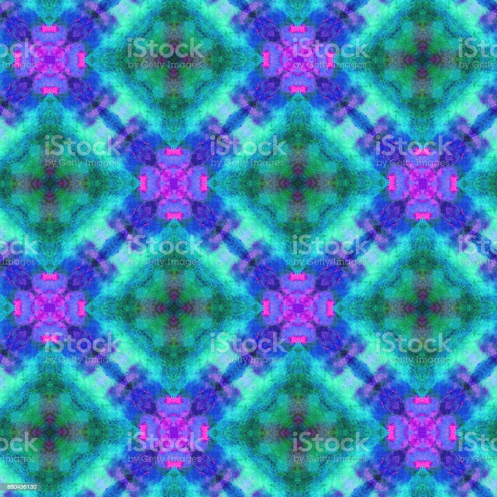 Hand Drawn Seamless Pattern With Folk National Motives Bright Colored Abstract Wallpaper Texture