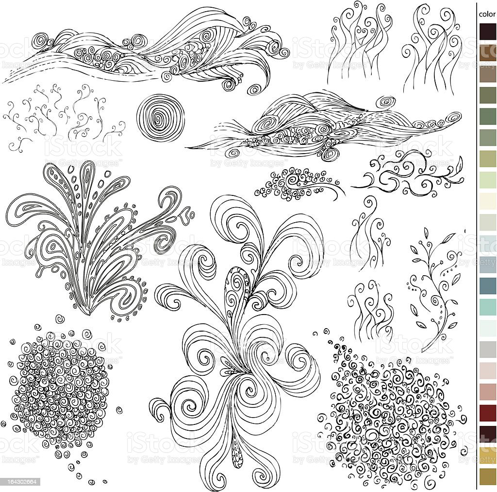 Hand Drawn Shapes royalty-free hand drawn shapes stock vector art & more images of circle