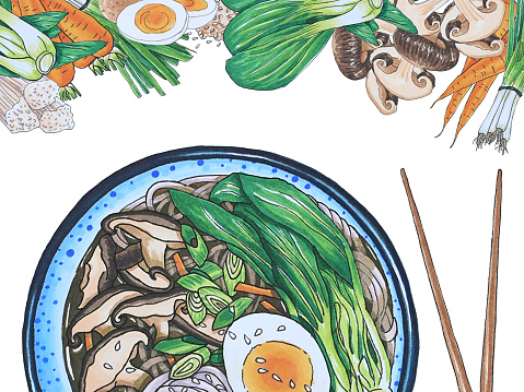 Japanese food stock illustrations