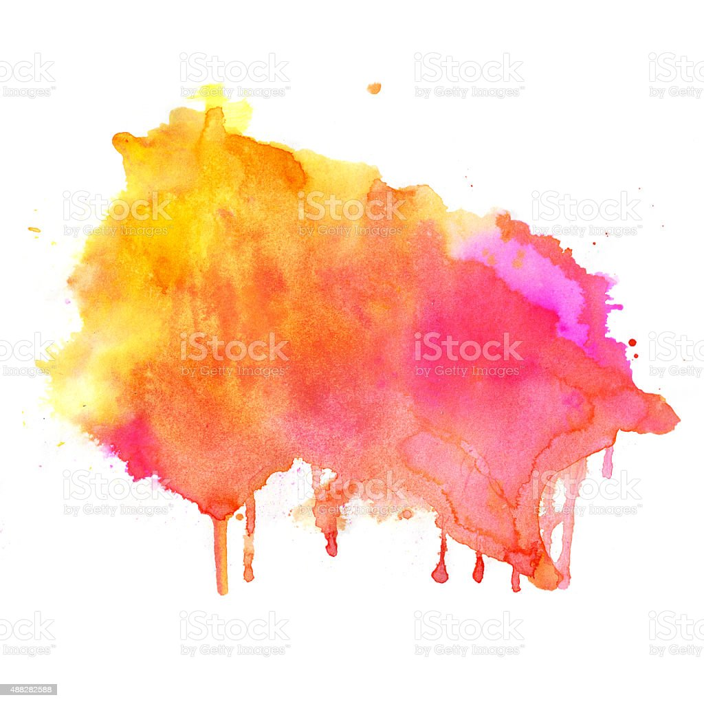 Hand drawn Watercolor background vector art illustration