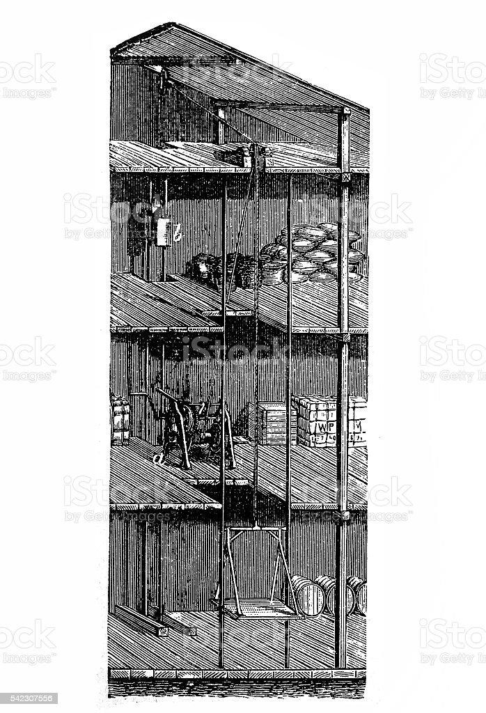 Hand goods lift. vector art illustration