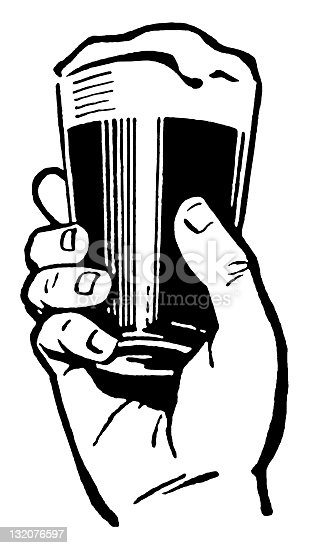 Hand Holding Glass of Beer