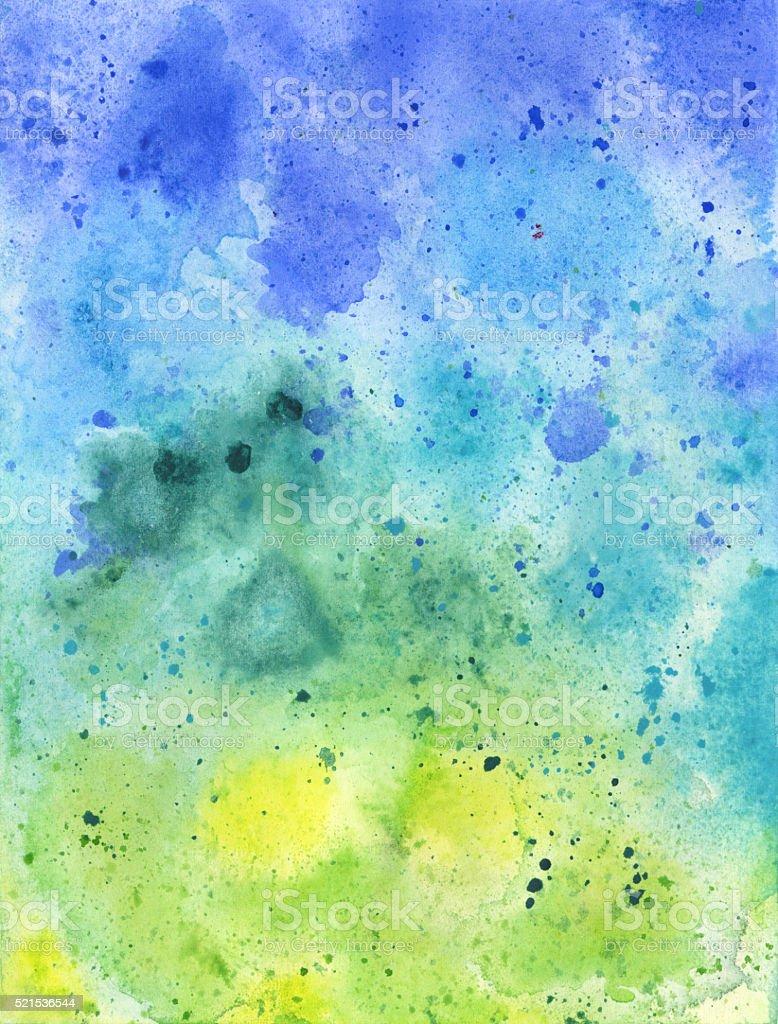 Dipinti A Mano Ad Acquerello Blu E Verde Sfondo Texture Immagini