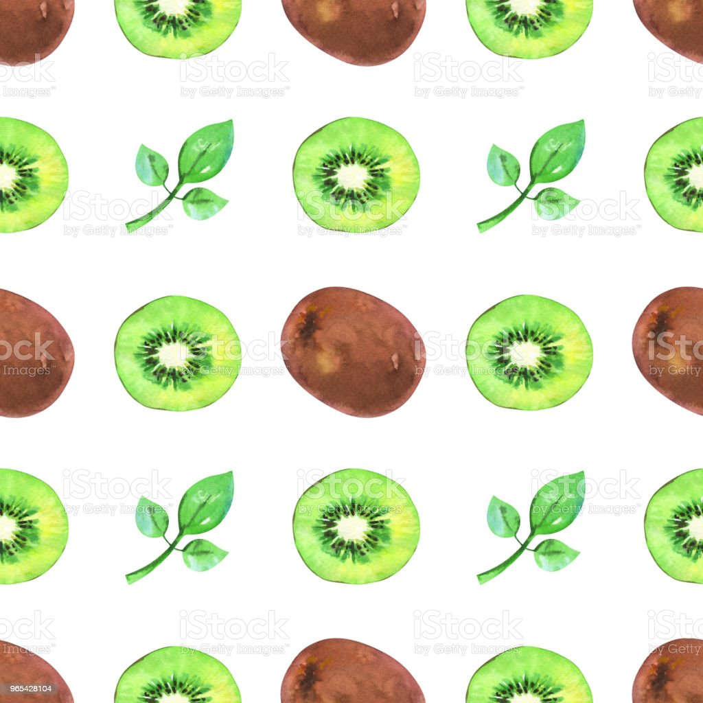 Hand painted minimalist seamless pattern with watercolor slices and whole kiwi and green leaf royalty-free hand painted minimalist seamless pattern with watercolor slices and whole kiwi and green leaf stock vector art & more images of appearance