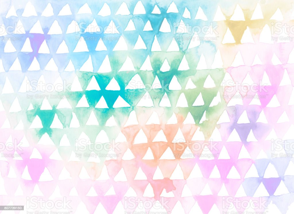 Hand painted watercolor background vector art illustration