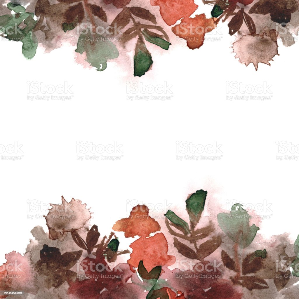 Hand painted watercolor floral background vector art illustration