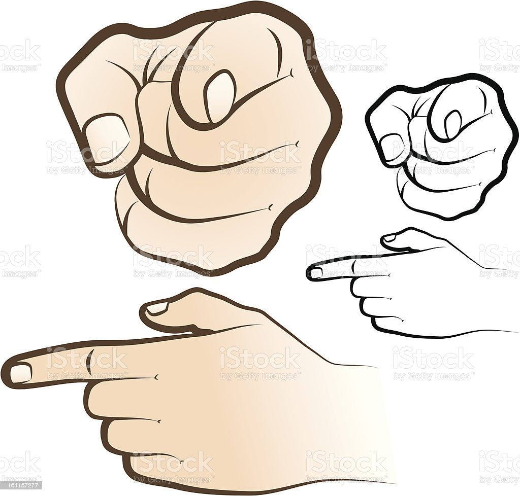 Main pointant du doigt cliparts vectoriels et plus d - Dessin de doigt ...