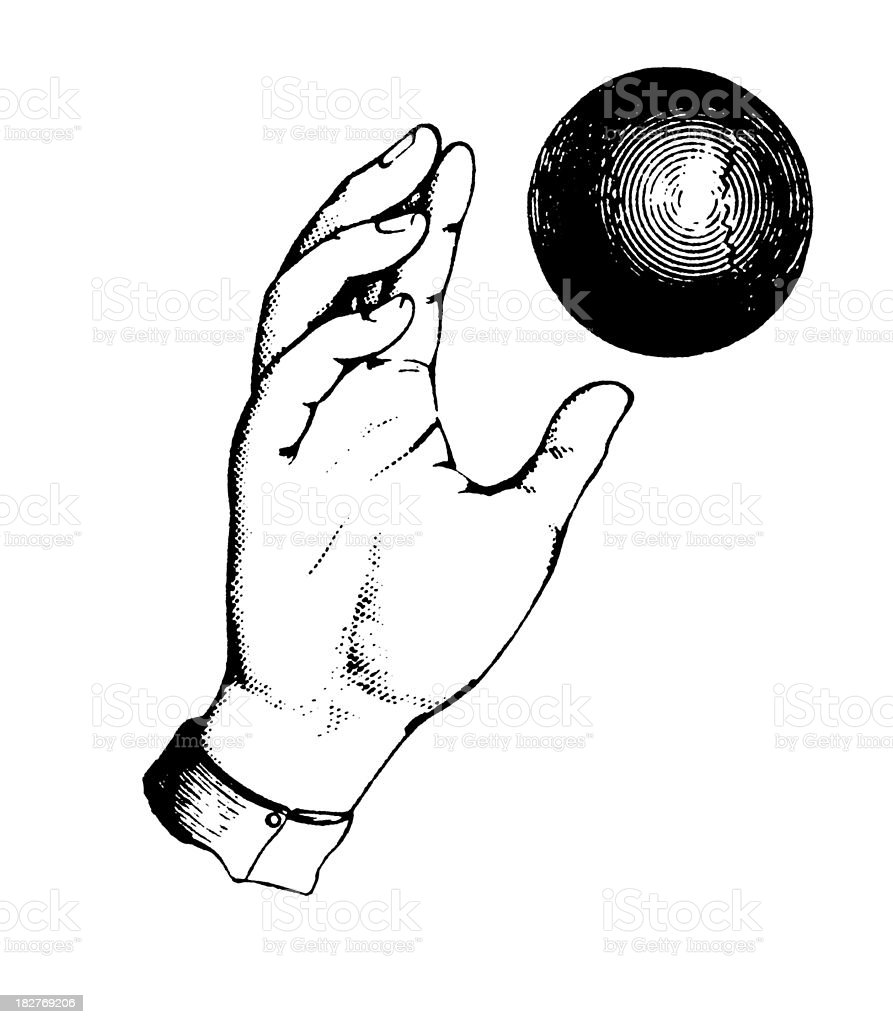Hand Throwing Ball | Antique Design Illustrations royalty-free hand throwing ball antique design illustrations stock vector art & more images of 19th century