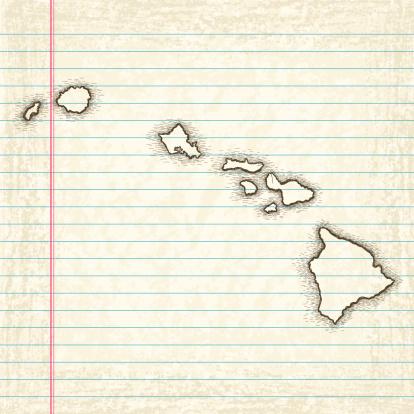 Hand-Drawn Map of Hawaii