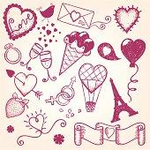 Hand-drawn Valentine`s day illustration