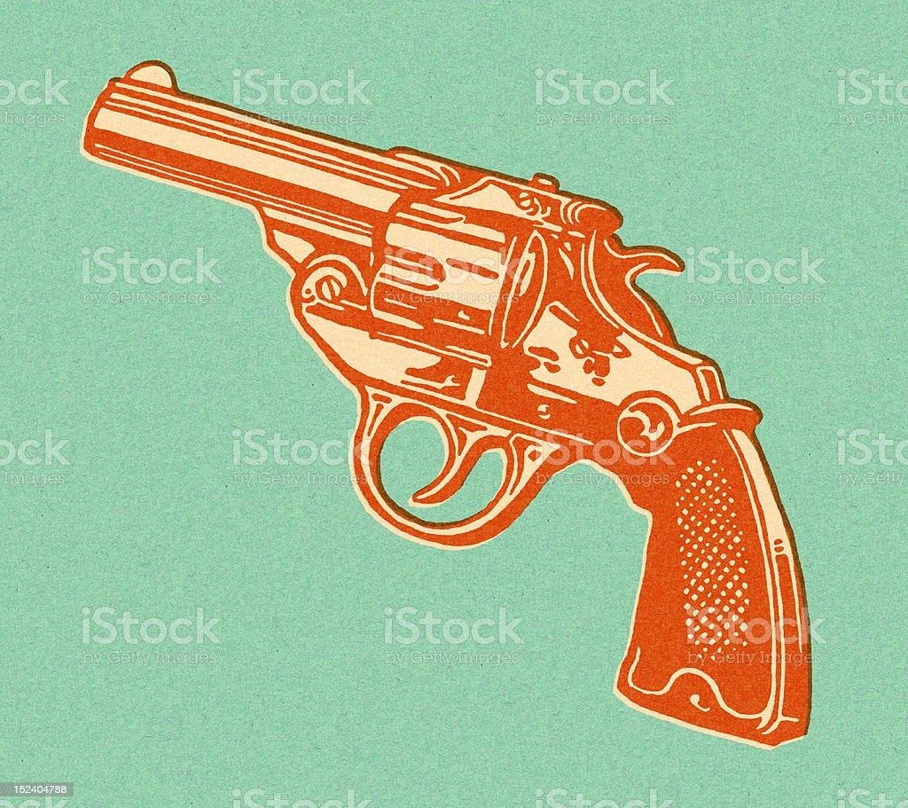 Revólver - ilustração de arte em vetor
