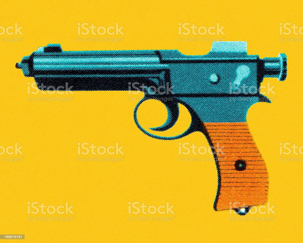 Handgun royalty-free stock vector art