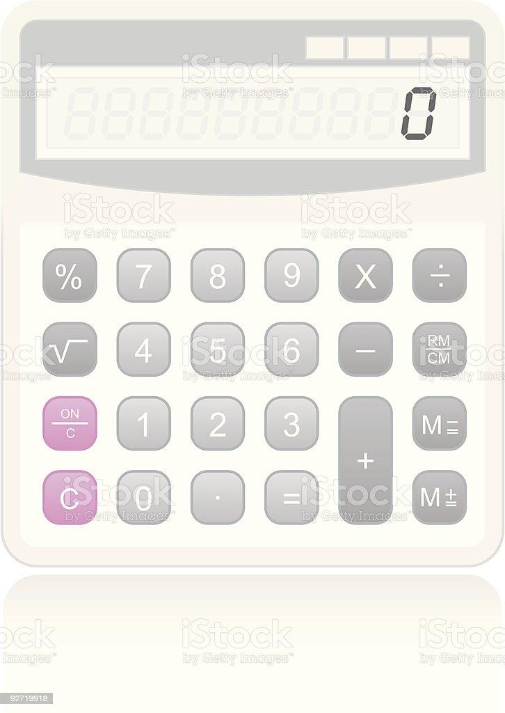 Handheld Digital Calculator royalty-free stock vector art