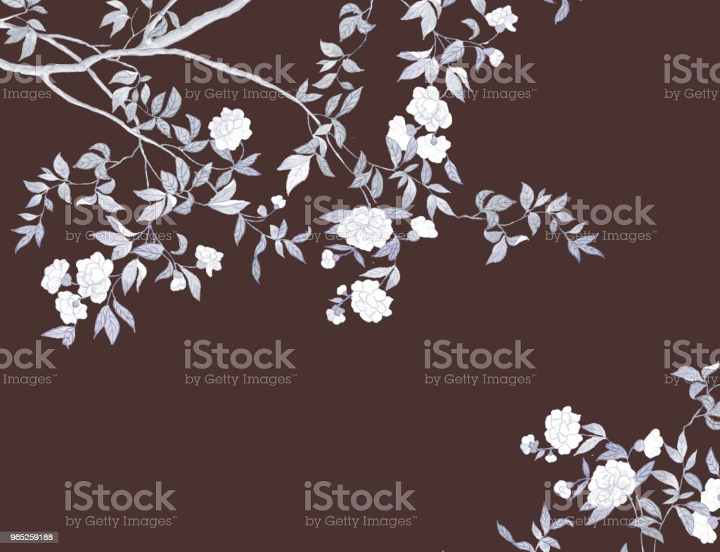 Hand-painted branches and flowers royalty-free handpainted branches and flowers stock vector art & more images of art