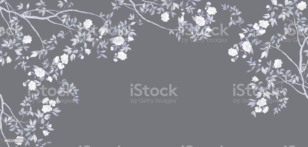 Hand-painted branches and flowers handpainted branches and flowers - stockowe grafiki wektorowe i więcej obrazów bez ludzi royalty-free