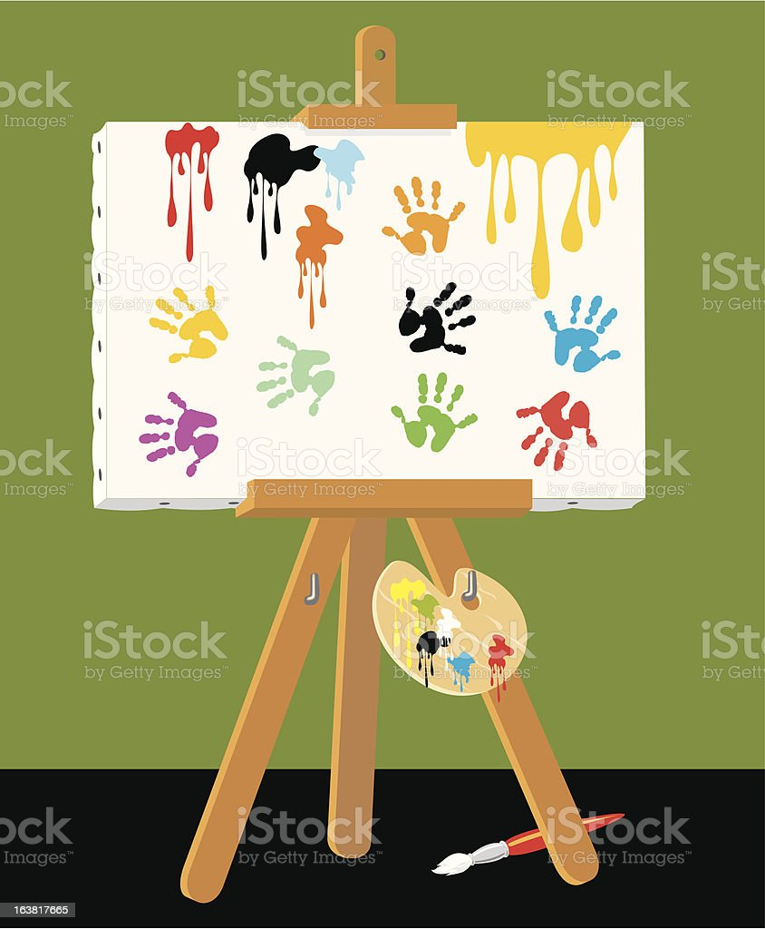 Handprints on Canvas royalty-free handprints on canvas stock vector art & more images of art