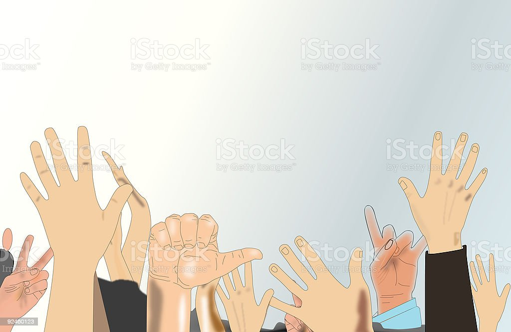 hands royalty-free hands stock vector art & more images of cheering