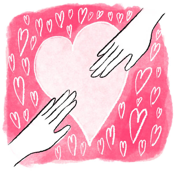 Hands reaching for each other drawing Two hands reaching to each other drawing kathrynsk stock illustrations