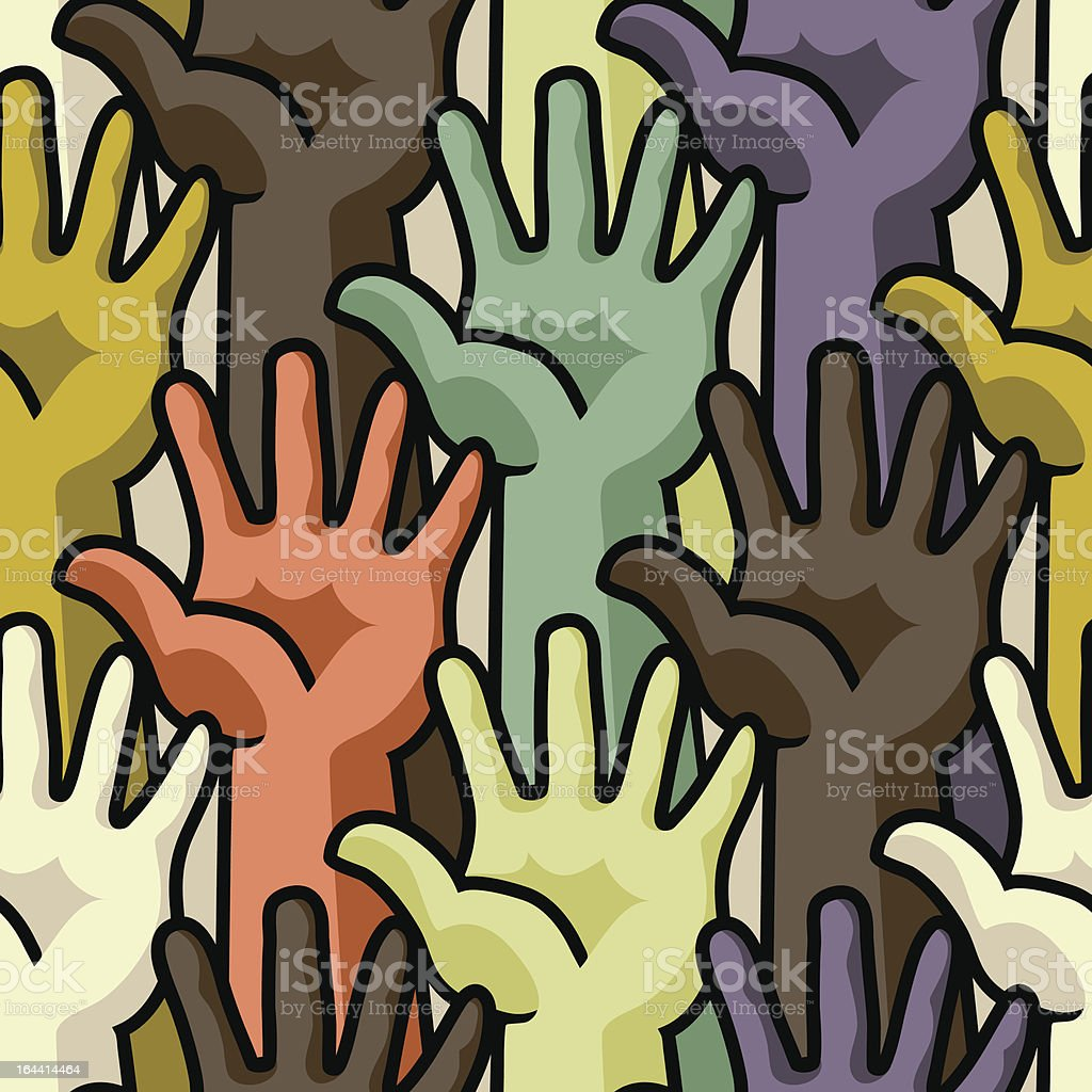 Hands - seamless pattern royalty-free stock vector art