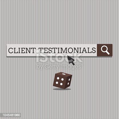 Handwriting text Client Testimonials. Concept meaning Written Declaration Certifying persons Character Value.