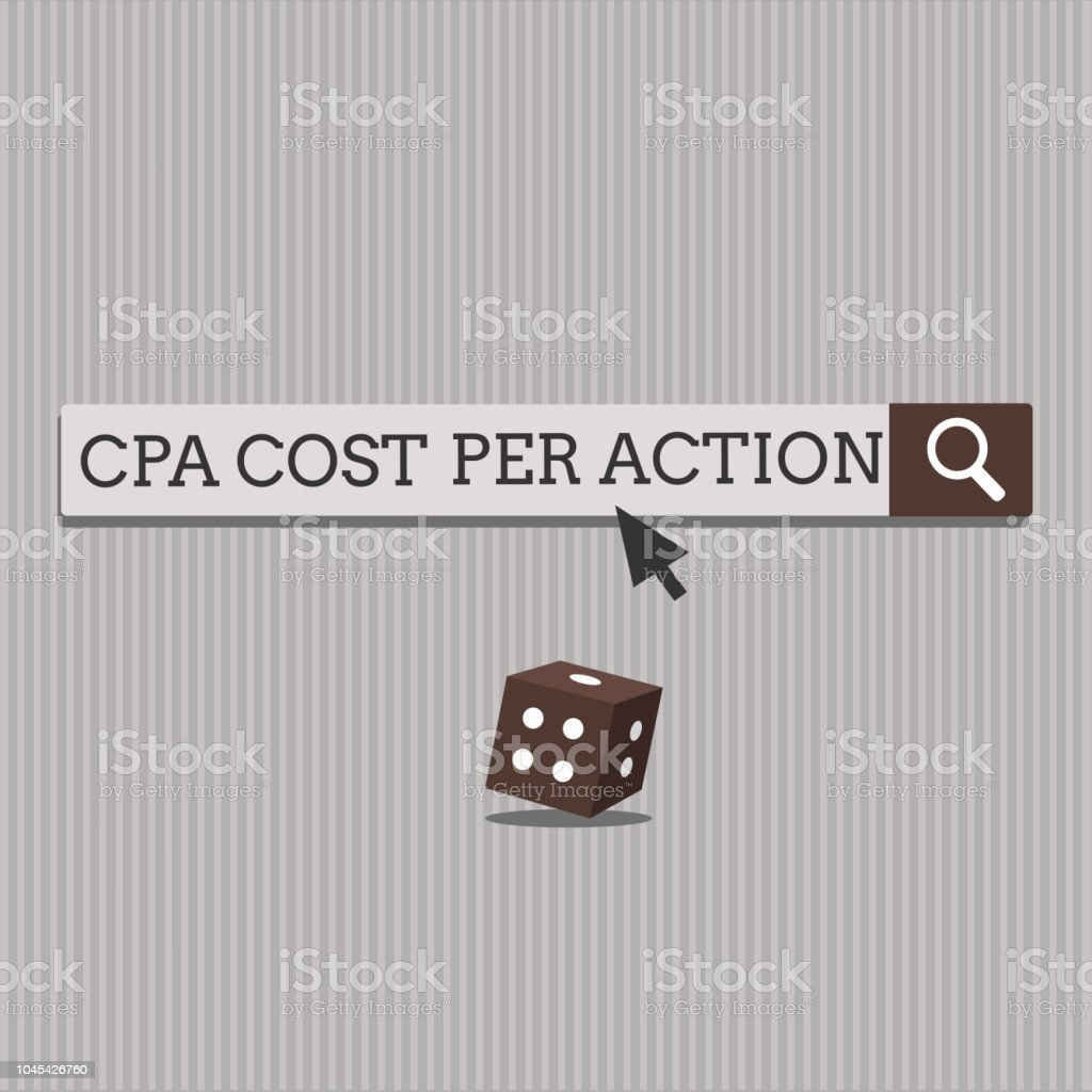 Handwriting text Cpa Cost Per Action. Concept meaning Commission paid when user Clicks on an Affiliate Link vector art illustration