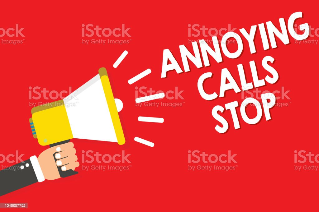 Handwriting Text Writing Annoying Calls Stop Concept Meaning