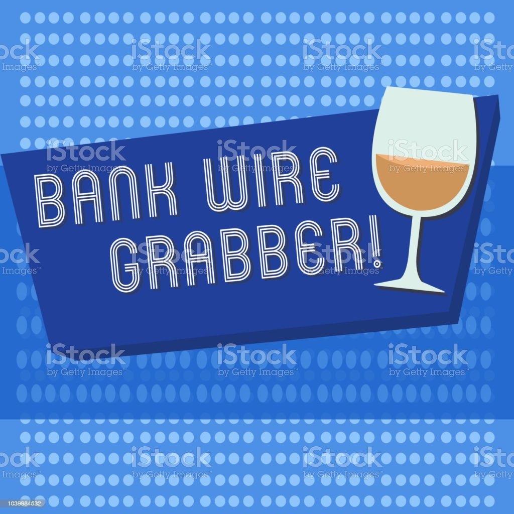 Handgeschreven Tekst Schrijven Bank Wire Transfer Begrip Betekenis